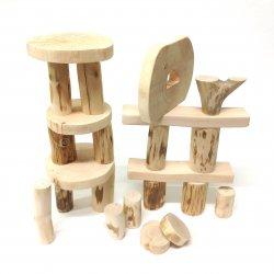 Ecoblocks 36 piezas sin corteza. Marca Magi Wood