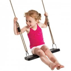 Columpio infantil de caucho con cuerdas