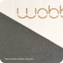 Wobbel Tabla Curva gris