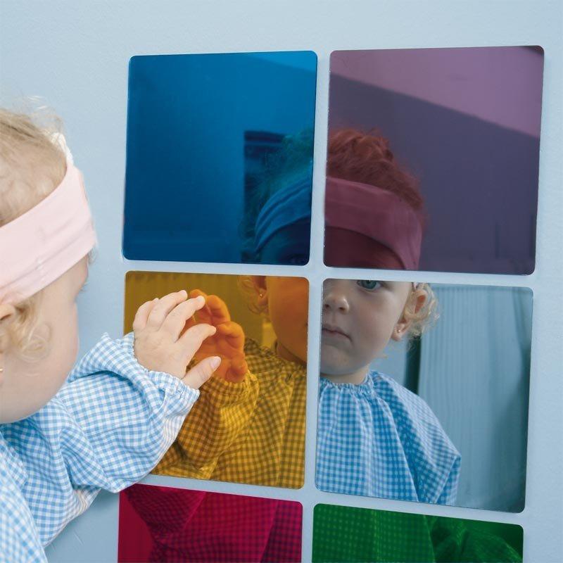 Espejos de colores para niños