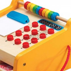 Caja registradora de juguete con ábaco