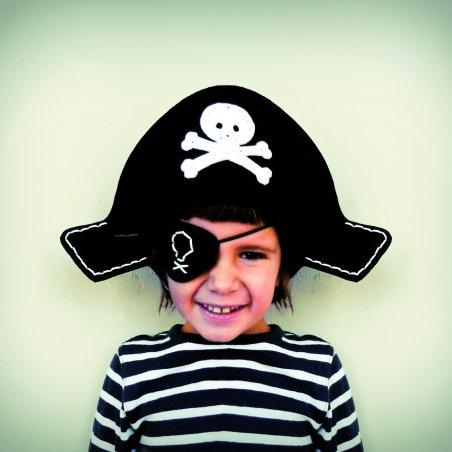 Kit de costura per a nens:  Barret i pedaç pirata