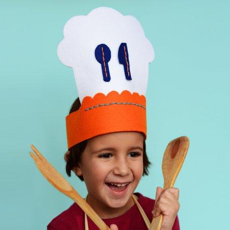 Kit de costura para niños: Gorro de cocinero