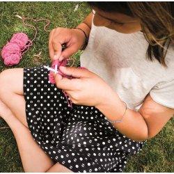 Kit infantil para tejer un gorro – Fúcsia