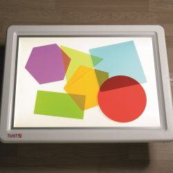 Formas geométricas de metacrilato para caja de luz