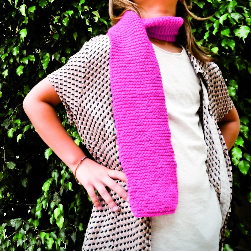 Kit infantil per teixir una bufanda - Fúcsia