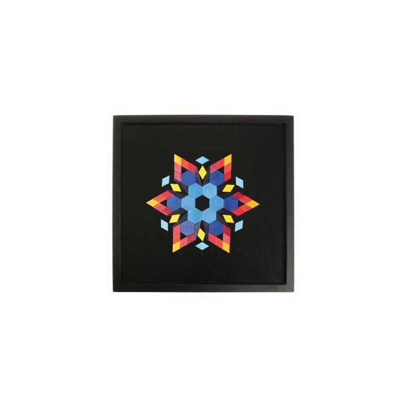 Pissarra magnètica gran fons negre. 50x50 cm. Es penja com un quadre