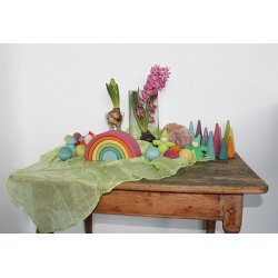 Mini mundo color pastel. Arco iris mediano de 6 piezas
