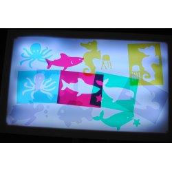 Plantillas Animales del mar para actividades con mesa y caja de luz