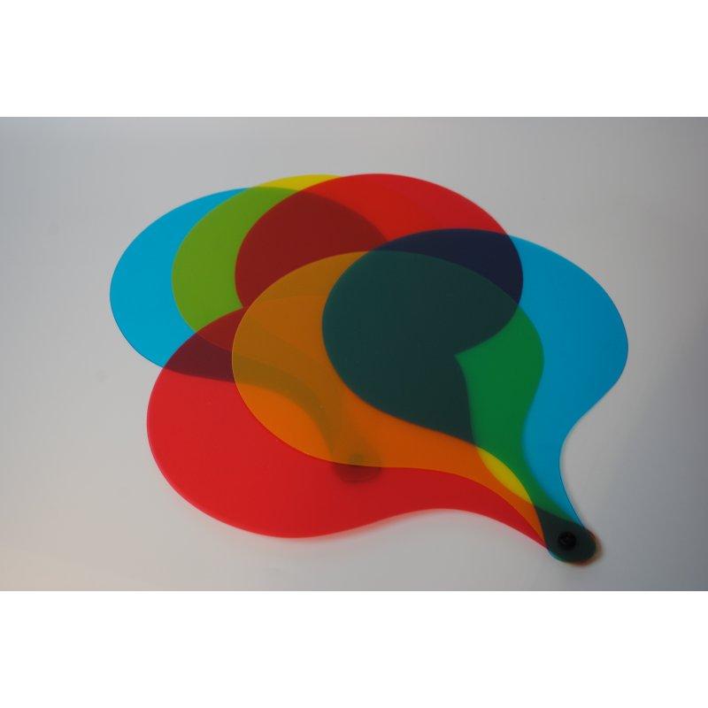 Palas grandes de colores para mesa de luz