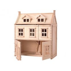 Casa de nines de fusta d'estil antic