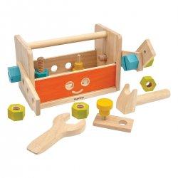 Caja de herramientas de madera. Marca Plan Toys 5540