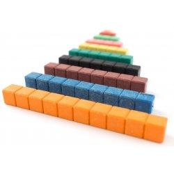 Regletas matemáticas multibase de colores