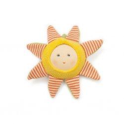 Sonajero Sol para bebés de algodón y lana orgánicos