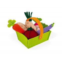 Cistella de verdures de joguina de tela