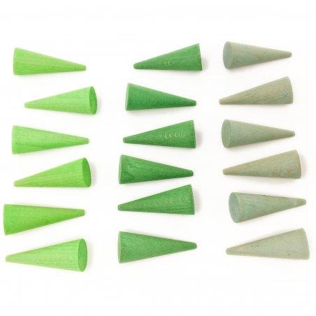 36 pequeños conos para mandala