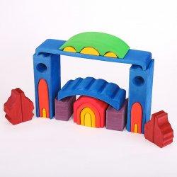 Castillo de madera de colores. Nic Toys