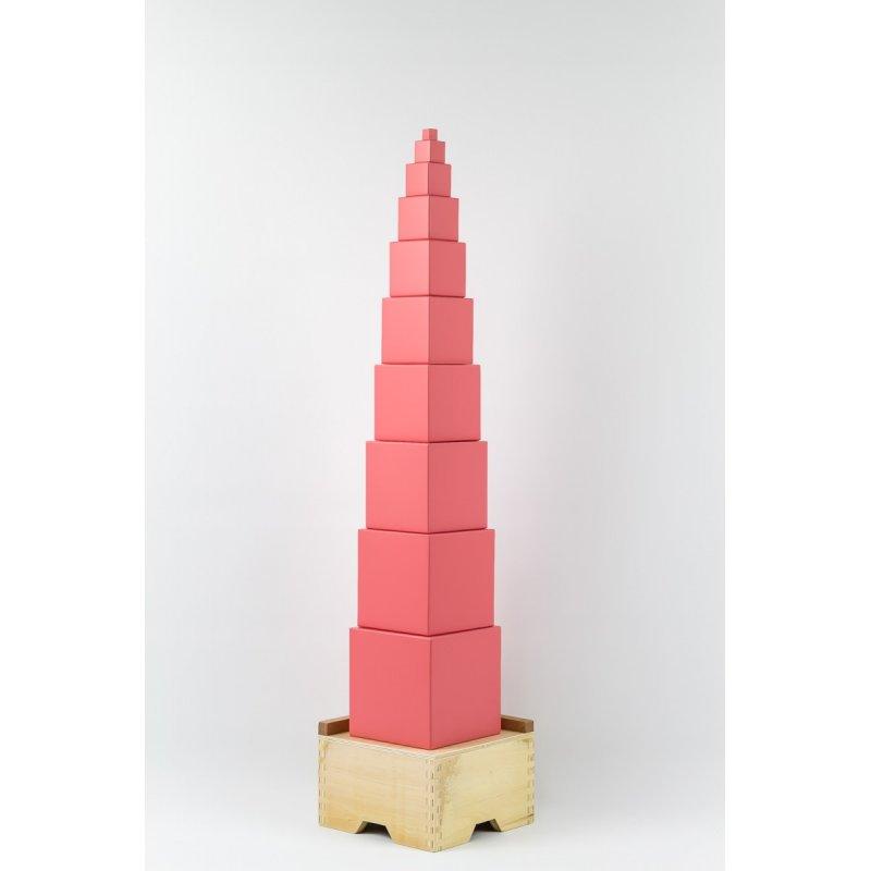 Base de madera para Torre rosa montessori