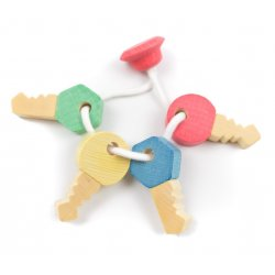 Clauer per a nadons amb 4 claus de fusta