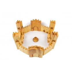 Gran castillo de juguete de madera