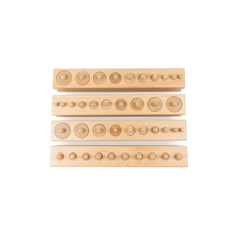 Cilindres amb botó Montessori Premium