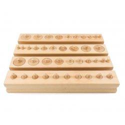 Cilindros con botón Montessori Premium