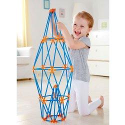 Flexistick 132 peces. Joc de construcció ecològic i fet de bambú.