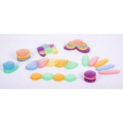 Completo set de piedras de juguete para mesa de luz.