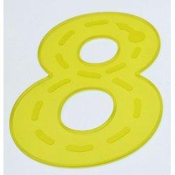 Números flexibles de silicona para jugar