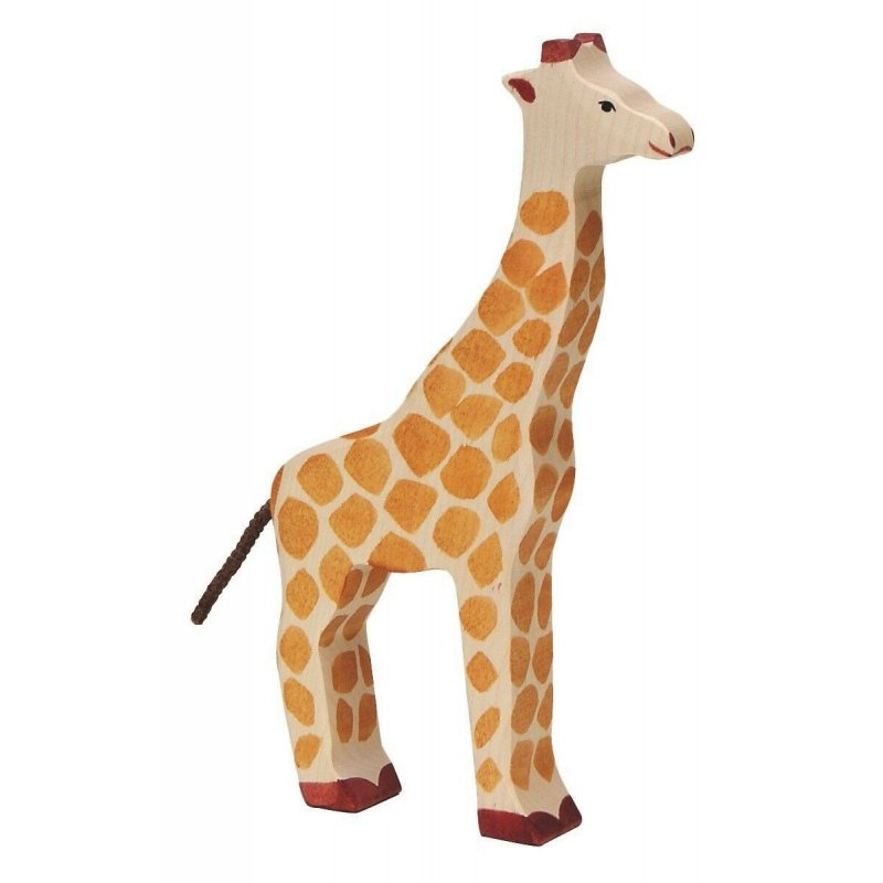 jirafa de madera para niños. Animal de juguete.