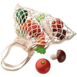 Verduras de madera en bolsa...
