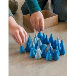 36 piezas sueltas azules para mandala y mini mundos. Grapat