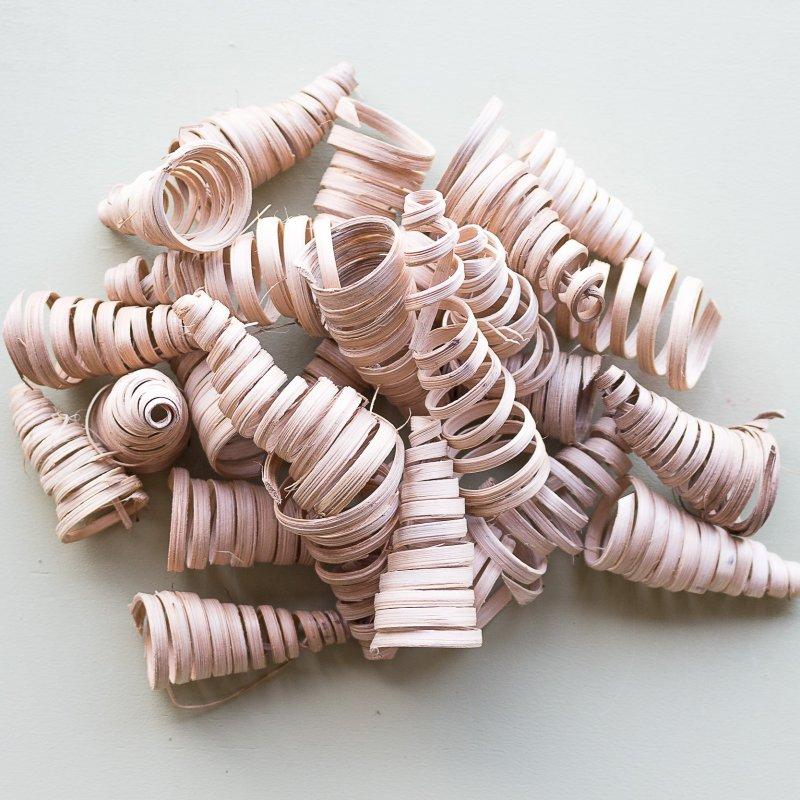Espirals de canya per a manualitats